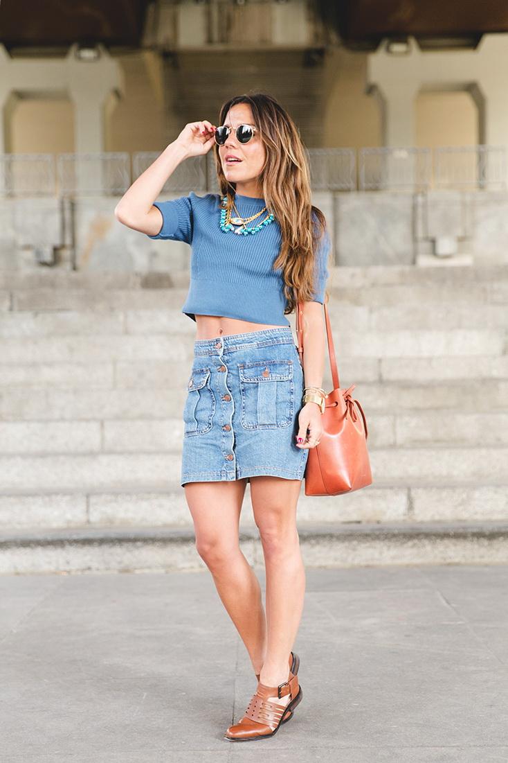 Jacket Jean Long Skirt