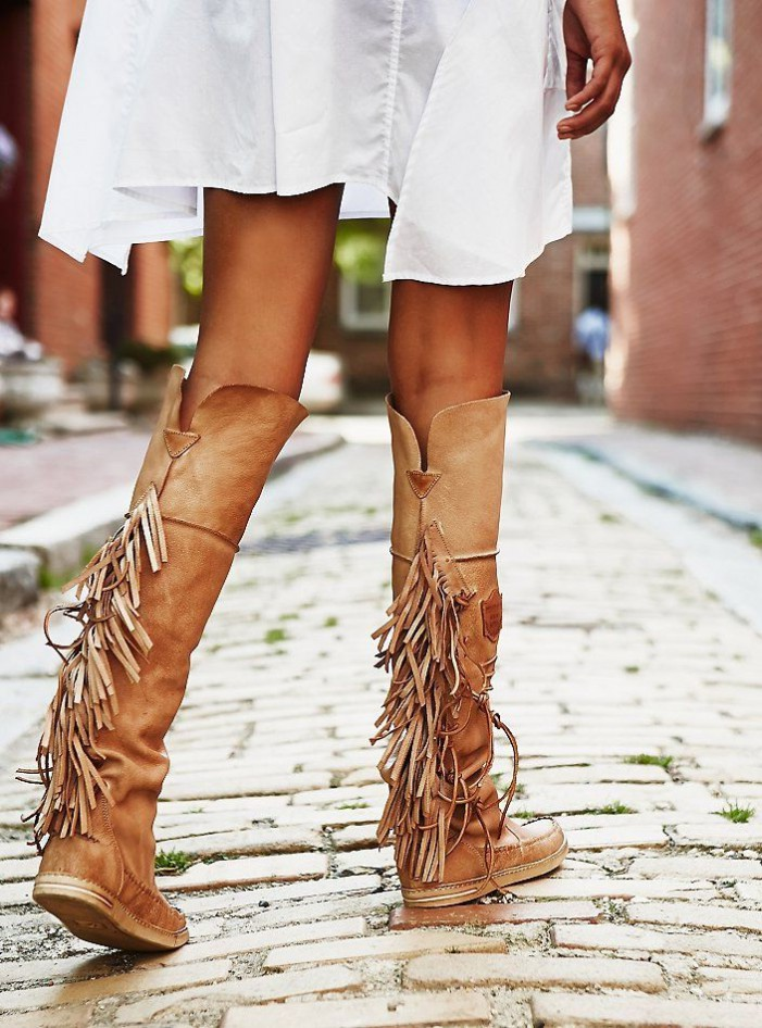 Purple Ankle Wedge Boots