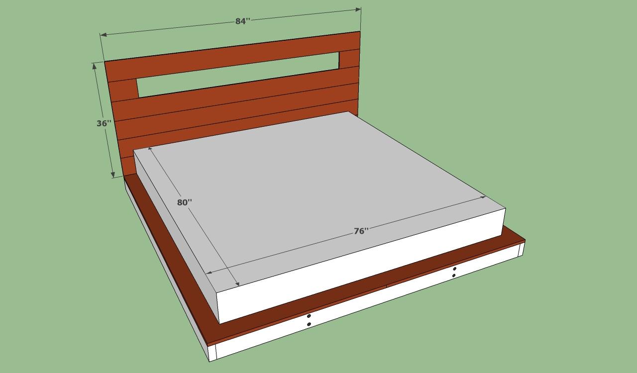 King Size Bed Frame Plans Bed Plans Diy Amp Blueprints