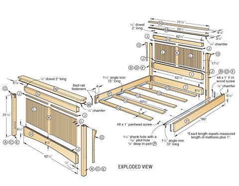 Wood Bed Plans Bed Plans Diy Amp Blueprints