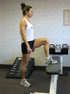 Step Up Flat Bench