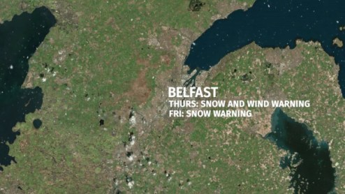 Snow arrives in Northern Ireland  Traffic and weather alerts   send     Video  Thundersnow   Where will the blizzards hit