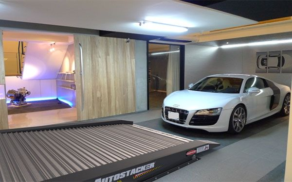 Double Parking Space in Your Home Garage with Autostacker Car Lift for Home Garage