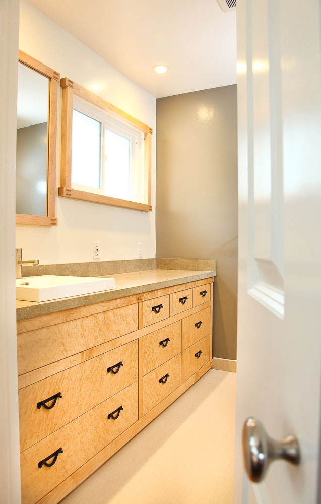 Maple Custom Tansu Vanity Bay Area Berkeley Mills