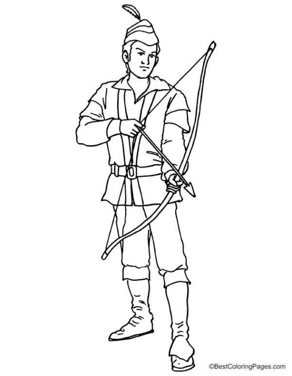 robin hood coloring pages # 7