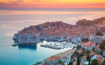 Download Wallpapers Dubrovnik Sunset Resort Sea