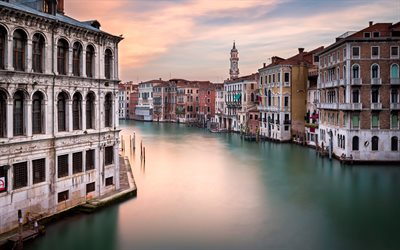 Download Wallpapers Venice Evening Sunset Italy Venice