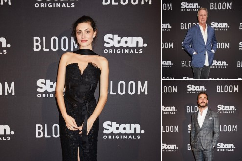 Phoebe Tonkin, Ryan Corr & Bryan Brown arriving at the world premiere of our Stan Original Series Bloom.