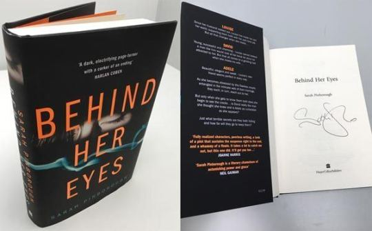 EP18  Behind Sarah Pinborough s Eyes    The Bestseller Experiment THE FIRST COPY SIGNED OF SARAH PINBOROUGH S NEW NOVEL  BEHIND HER EYES