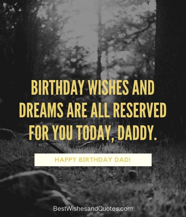Birthday Cute Quotes Happy Dad Heaven