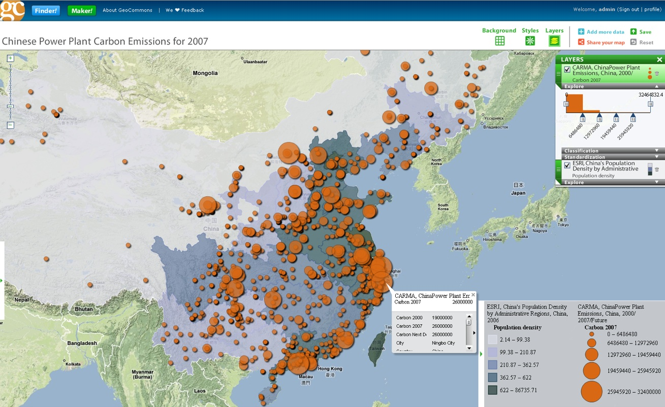 Search Geo Data With Finder  Sneak Peak At GeoCommons  Map  Maker     Sneak Peak At GeoCommons  Map  Maker