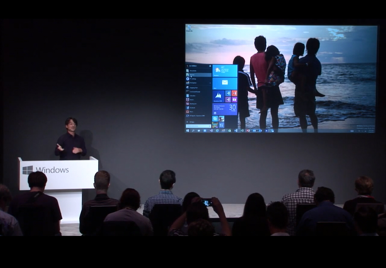 Watch the Windows 10 presentation