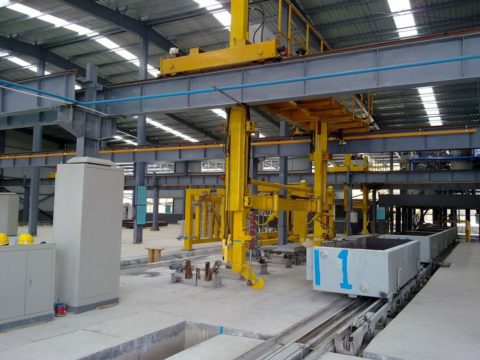 Gassilikat-Produktionslinie