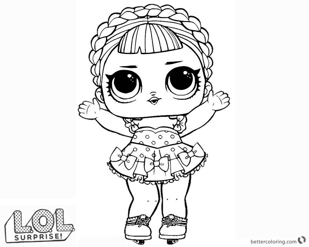 Rocker Sheets Doll Coloring Lol