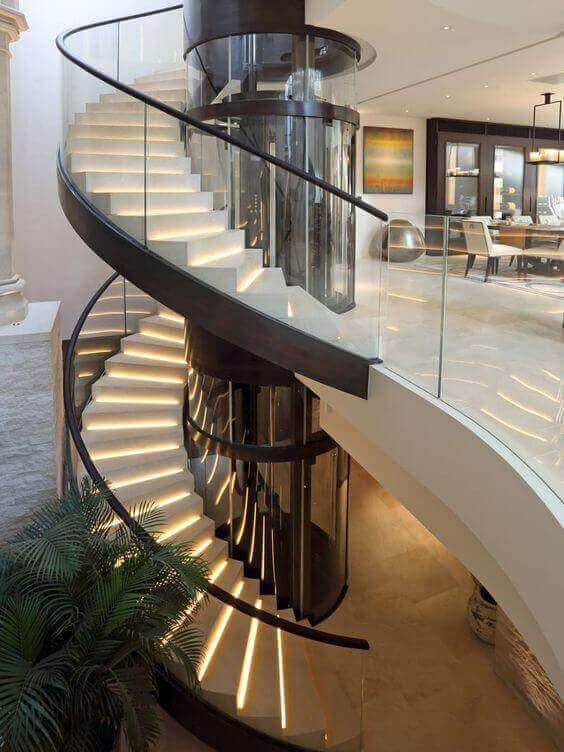 38 Luxury Spiral Staircase Suggestions Built To Impress   Spiral Stairs Off Deck   Railing   Wood Deck   Metal   Stair Case   Stairway