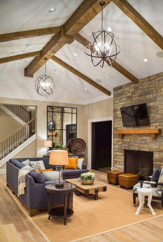 36 Great Exposed Beam Ceiling Lighting Ideas