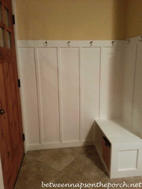 Small Entryway Makeover Add Board And Batten Wainscotting
