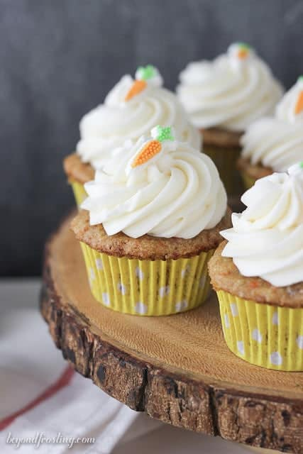 Carrot Cake Cupcakes Beyond Frosting
