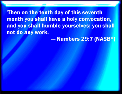 Bible Verse Powerpoint Slides for Numbers 29:7
