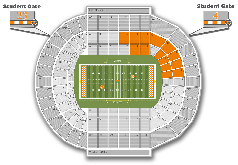 Neyland Stadium Seating Map