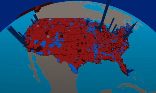 essays   effluvia  2004 U S  Presidential Election Results by County     They collaborated with CBS News Election Data Center and the Presidential  Analysis Desk  using GIS enabled mapping  They created a demographic map to  help