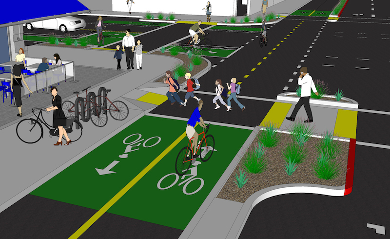 14th Street Gets 10 5 Million For Protected Bike Lanes