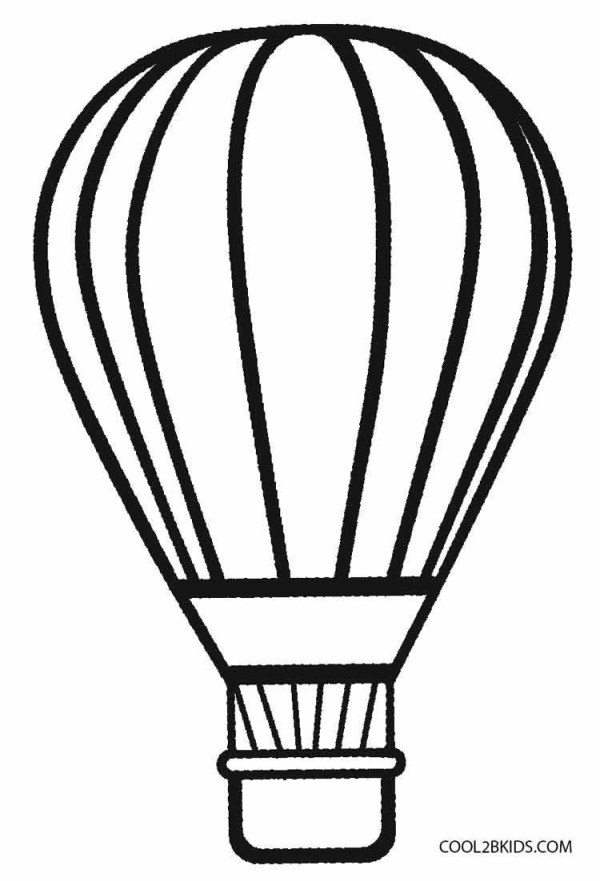 hot air balloon coloring pages # 5
