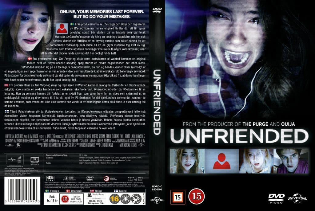 Unfriended - nordic retail DVD