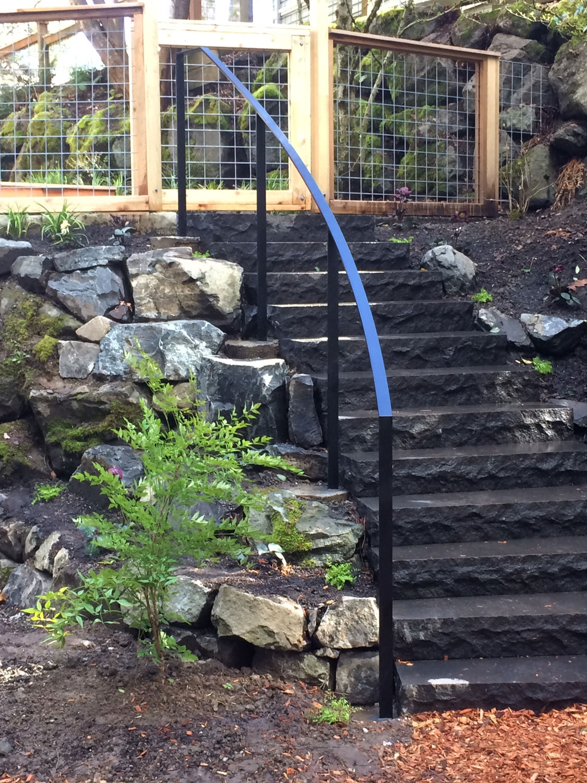Exterior Metal Railings Ironwork Seattle Wa Blackbird Iron | Iron Handrails For Outside Steps | Aluminum Railing | Railing Systems | Deck Railing | Front Porch