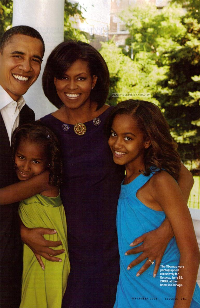 THE OBAMA FAMILY:A FAMILY OF ESSENCE | BLACKCELEBRITYKIDS ...