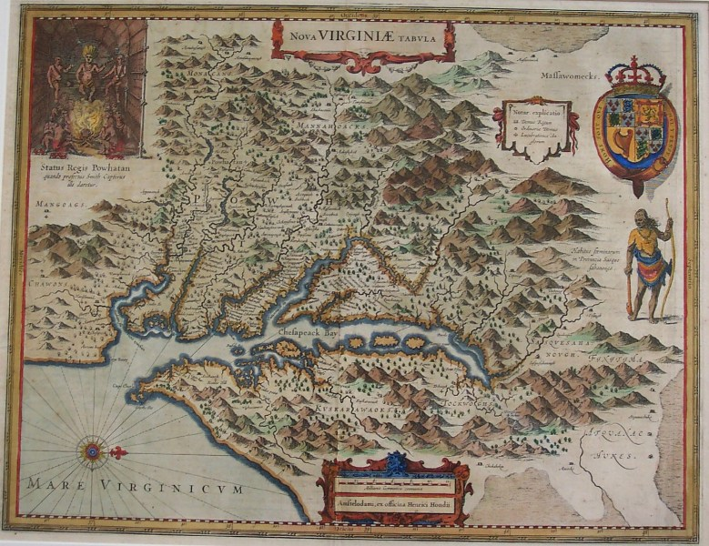 Antique Maps   Black Dog Gallery Antique Maps   Hondius VA