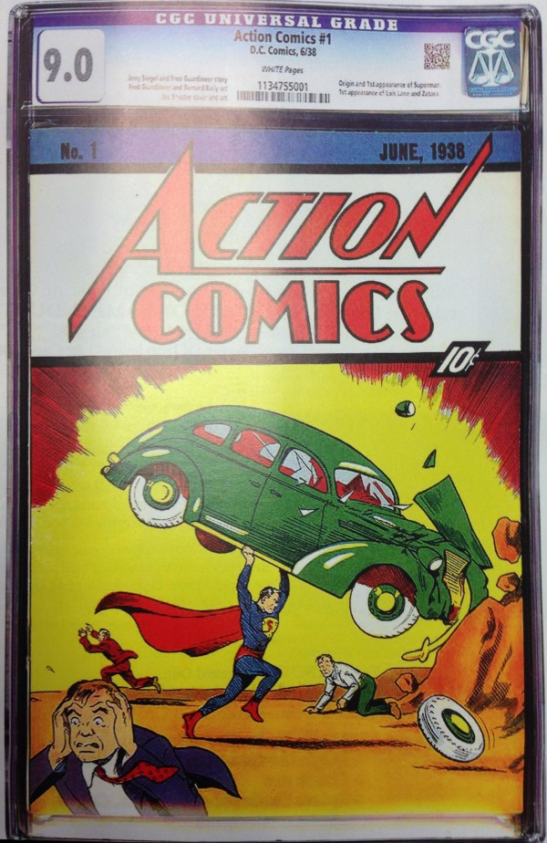 The First 3 000 000 Comic Action Comics 1 Cgc 9 0 White