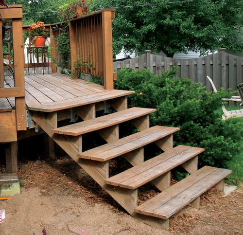 Build Wood Steps How To Build A Amazing Diy Woodworking Projects | Wood Stairs Over Concrete | Stair Stringers | Cement | Concrete Slab | Patio | Build
