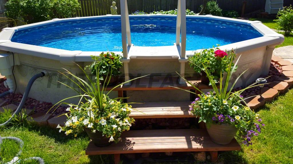 Above Ground Pool Garden Ideas