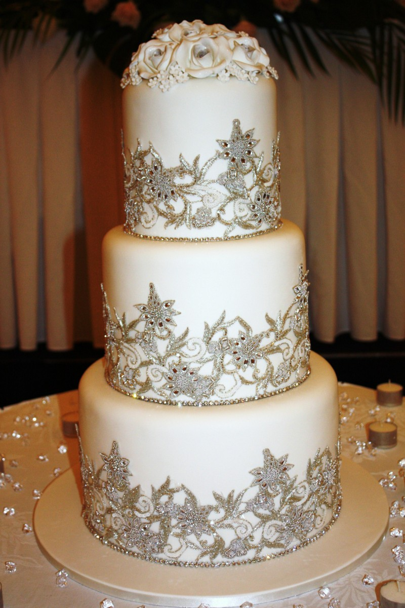 tall wedding cakes Archives   blog 3brothersbakery com Cakes of Your Dreams Indian Lace Wedding Cake