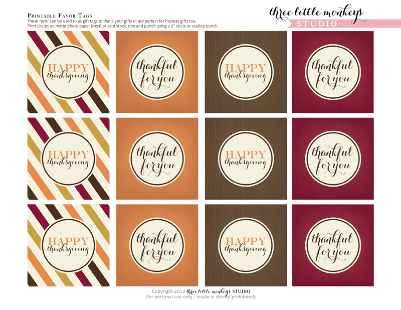 Download These Free Thanksgiving Printables For The Best