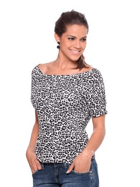 Animal Print Damyller Top Onça