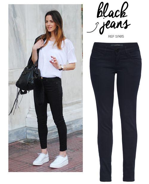 3c87e451fcb look feminino tênis branco e calça jeans preta - Blog Damyller