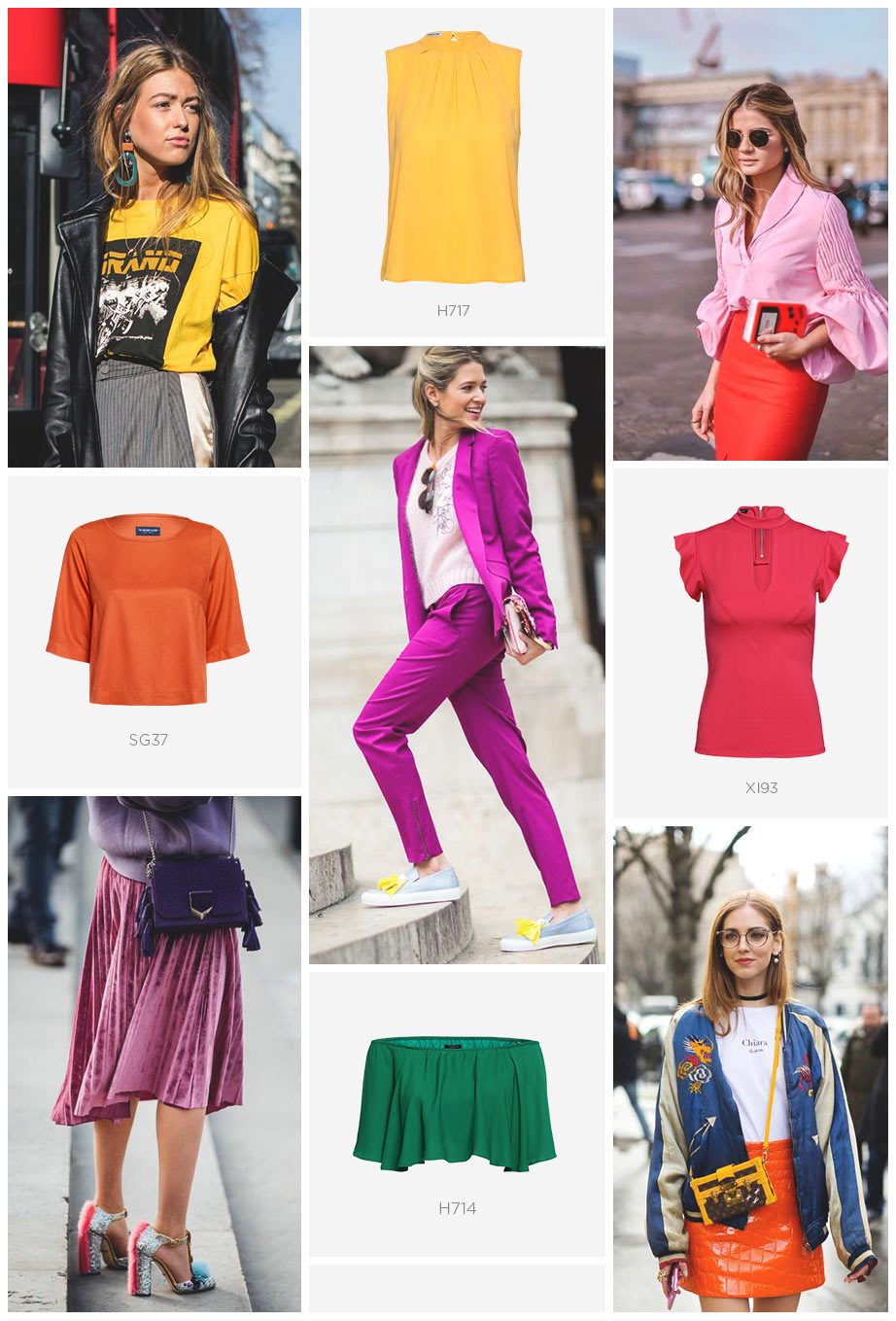 looks coloridos no street style