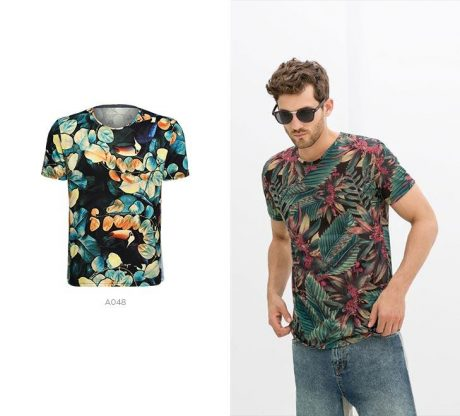 camiseta print tropical