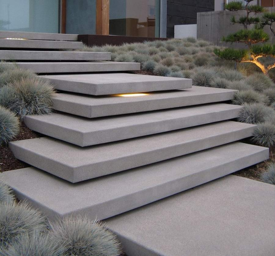 Designing And Building The Pool Stairs   Floating Concrete Steps Designs   House   Sidewalk   Front Door   Stair Railing   Backyard