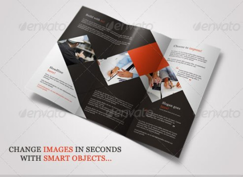 Creative Tri fold Brochure Design Templates   Entheos Business Tri Fold Brochure