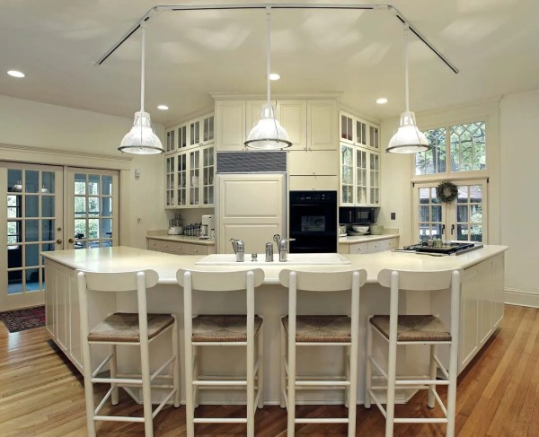 placement of pendant lights over kitchen island # 2