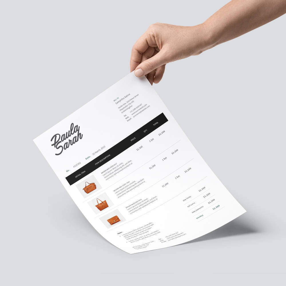 Professional Invoice Samples  10 Designs to Inspire You Image Invoice Sample