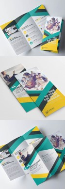 10 Best Corporate Business Brochure Designs for Inspiration     Corporate Tri fold Colorful Brochure Design