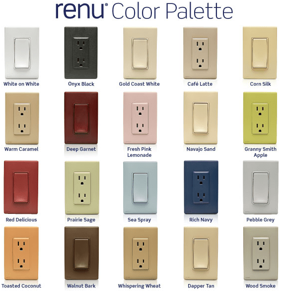 Colored Electrical Switches