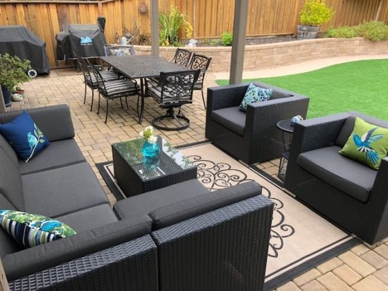 site ohanawickerfurniture com Blog      Sunbrella Covers    We re very happy with our patio set  All the pieces were as described  We  picked Sunbrella Coal for the cushion color so we can change the look with
