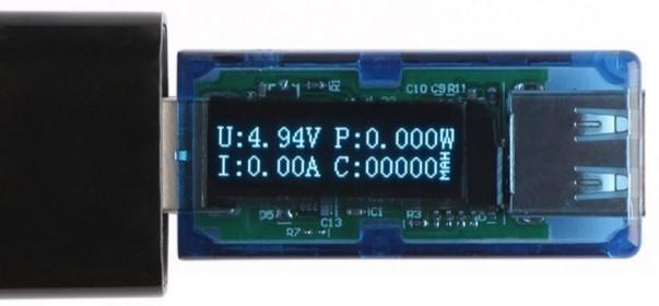 USBテスターを使用すると、実際のバッテリー容量を調べることができます