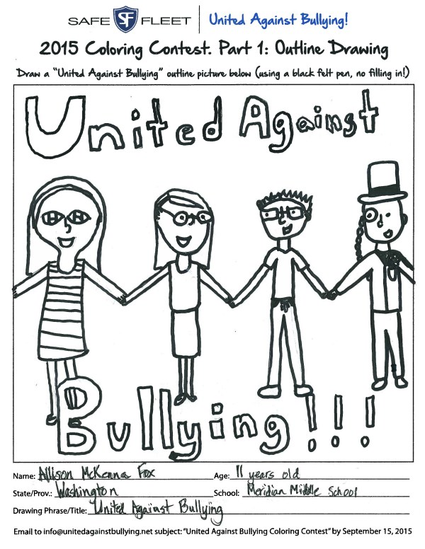 bullying coloring pages # 45