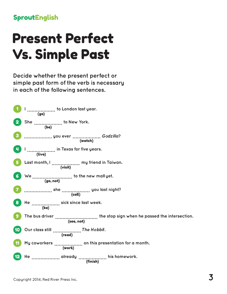 Perfect Pdf Exercises Present